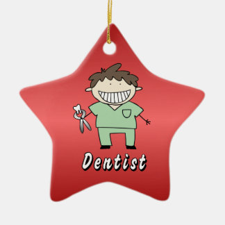 Occupation Dentist Professional Male Personalized Ceramic Ornament