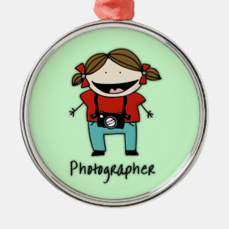 Occupation Photographer Female Photojournalist Silver-Colored Round Ornament