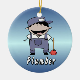 Occupation Plumber Custom Personalized Ceramic Ornament