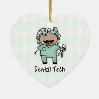 Occupation Woman Dentist Tech Personalized Ceramic Ornament