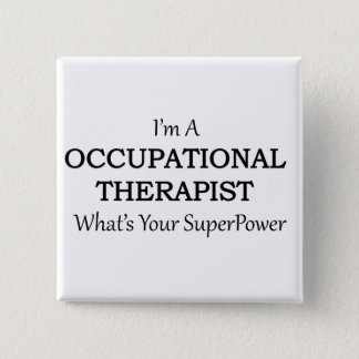 Occupational Therapist 2 Inch Square Button