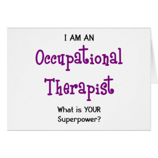 occupational therapist card