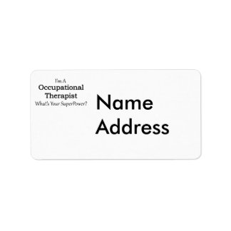 Occupational Therapist Label
