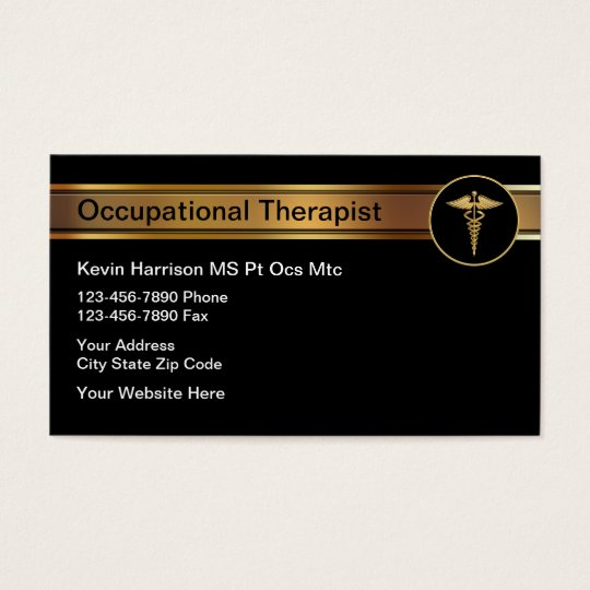 Occupational Therapist Medical Business Cards