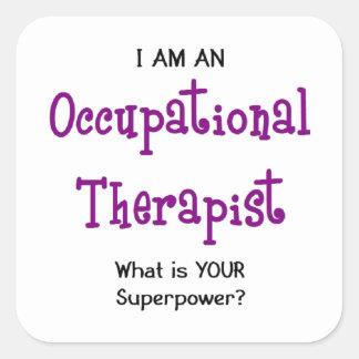 occupational therapist square sticker