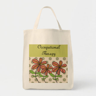 Occupational Therapy Tote Bag Artsy Flowers