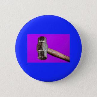 Occupations: Future Carpenter Sledgehammer Design 2 Inch Round Button
