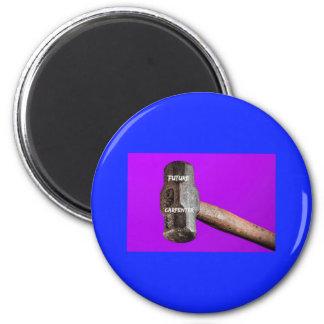 Occupations: Future Carpenter Sledgehammer Design 2 Inch Round Magnet