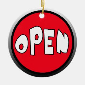 Occupied or Open Reversible Door Hanger Ceramic Ornament