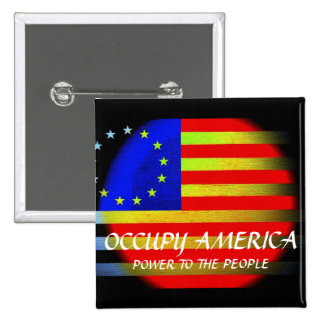 OCCUPY AMERICA POWER TO THE PEOPLE PINS