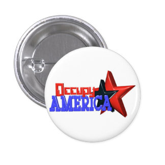 Occupy America protest 99 percent strong Button