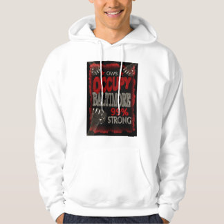 Occupy Baltimore OWS protest 99 percent strong Hoodie