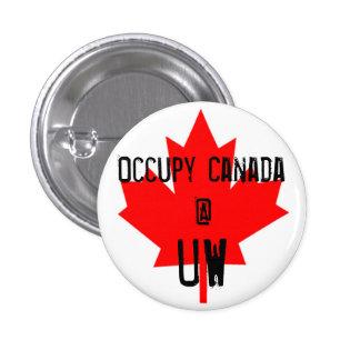 Occupy Canada @ UW-University of Waterloo 1 Inch Round Button
