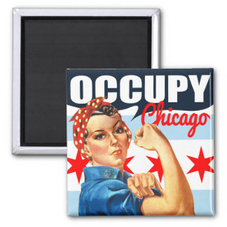 Occupy Chicago Rosie the Riveter Magnets