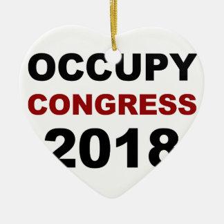 Occupy Congress 2018 Ceramic Heart Ornament