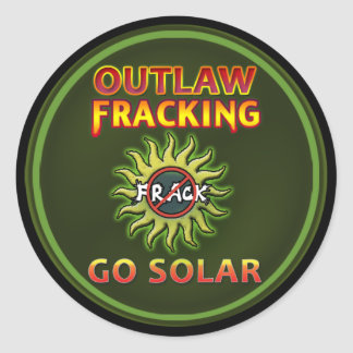 "Occupy Earth ""Go Solar - Outlaw Frack"" Stickers"