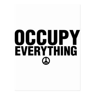 Occupy everything postcard