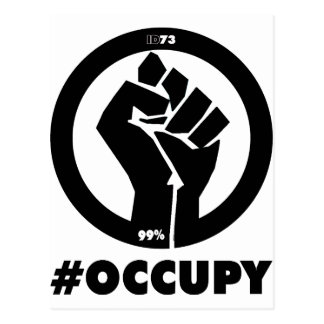 #Occupy Fist Postcard