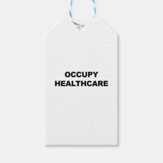 OCCUPY HEALTHCARE PACK OF GIFT TAGS