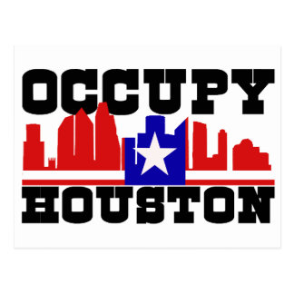 Occupy Houston Postcard