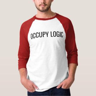 """OCCUPY LOGIC"" 3/4 sleeve Raglan T-shirt"