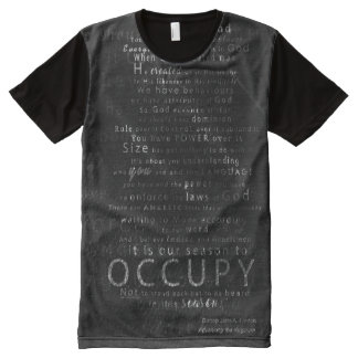 OCCUPY: MESSAGE ALL OVER T-SHIRT