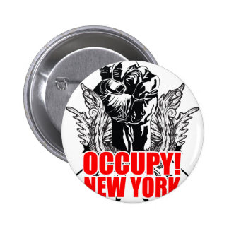 Occupy New York Buttons