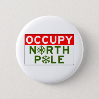 Occupy North Pole 2 Inch Round Button