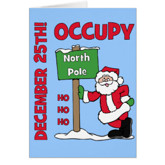 Occupy North Pole Card
