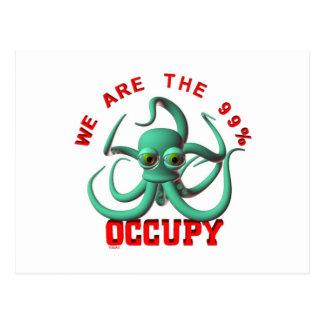 Occupy Octopus Postcard