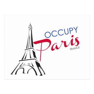 Occupy Paris France Postcard