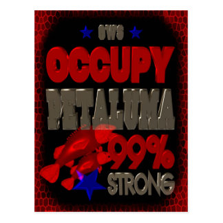 Occupy Petaluma OWS protest 99 strong poster Postcard