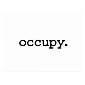 occupy. postcard