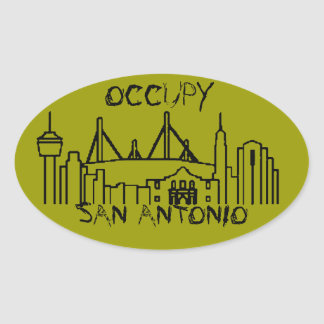 Occupy San Antonio Oval Sticker