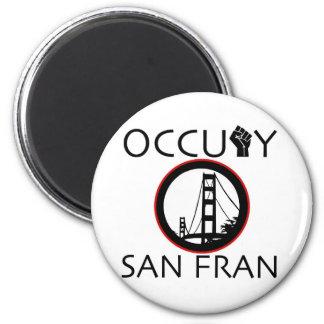 Occupy San Fransisco 2 Inch Round Magnet