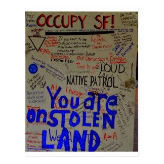 occupy sf postcard
