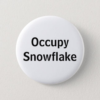 Occupy Snowflake 2 Inch Round Button