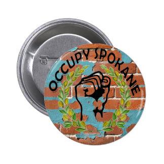 OCCUPY SPOKANE 2 INCH ROUND BUTTON