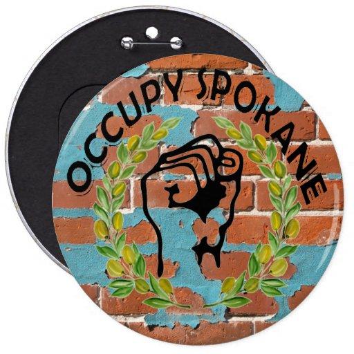 OCCUPY SPOKANE PINBACK BUTTONS