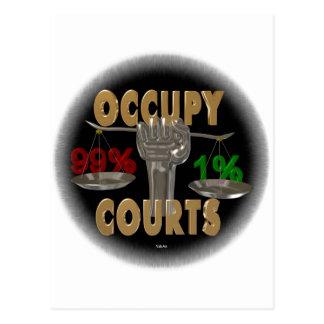 Occupy the courts . Occupy america Postcard