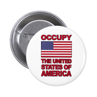 Occupy The United States of America Buttons