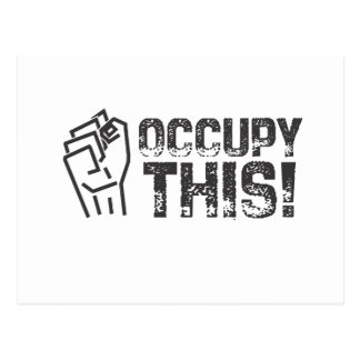 occupy this postcard