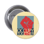 Occupy Together Protest Art Occupy Wall Street Buttons