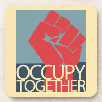 Occupy Together Protest Art Occupy Wall Street Drink Coasters