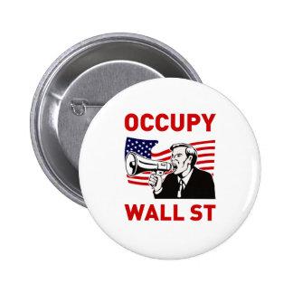 Occupy Wall Street America Pinback Button