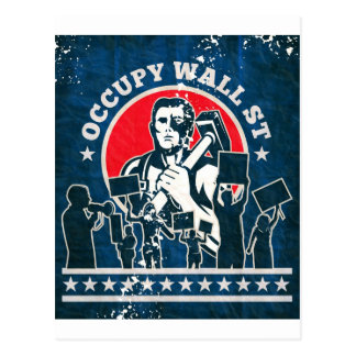 Occupy Wall Street America New York Postcard
