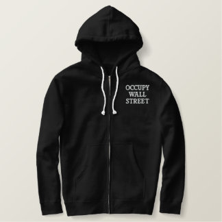 Occupy Wall Street Embroidered Hoodie