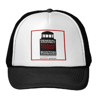 Occupy Wall Street General Assembly BOSTON Trucker Hat