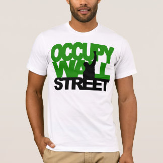OCCUPY WALL STREET Green T-Shirt