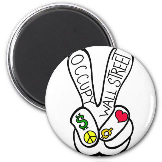 Occupy Wall Street Peace Magnet